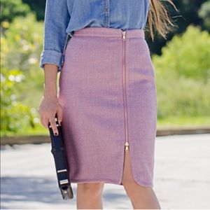 J. Crew Wool Zip Pencil Skirt